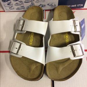 Birkenstock White Arizona Sandals